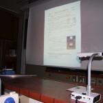 2011 - ELMO und Beamer zeigen Versuche oder Texte